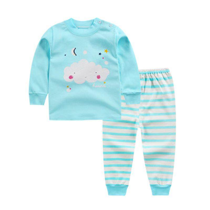 4ec57617039a Ishowmall New Arrival Baby Kids Toddler Girls Cute Long Clothes Cotton  Pajama Set Outfits
