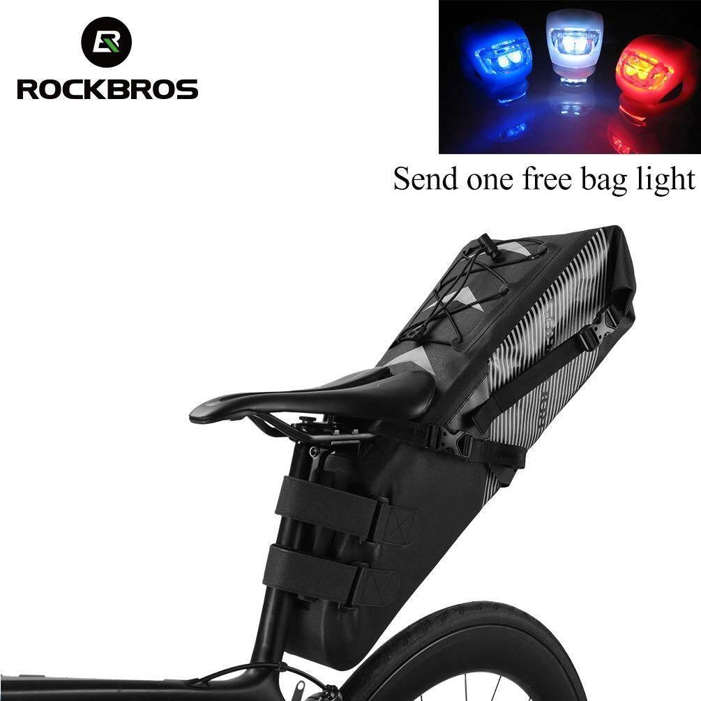 Buy Sell Cheapest Rockbros Tas Sadel Best Quality Product Deals C7 1 Saddle Bag With Bottle Pocket Sepeda Ekor Belakang Tahan Air Reflektif Kapasitas Besar Stabil Dua Warna