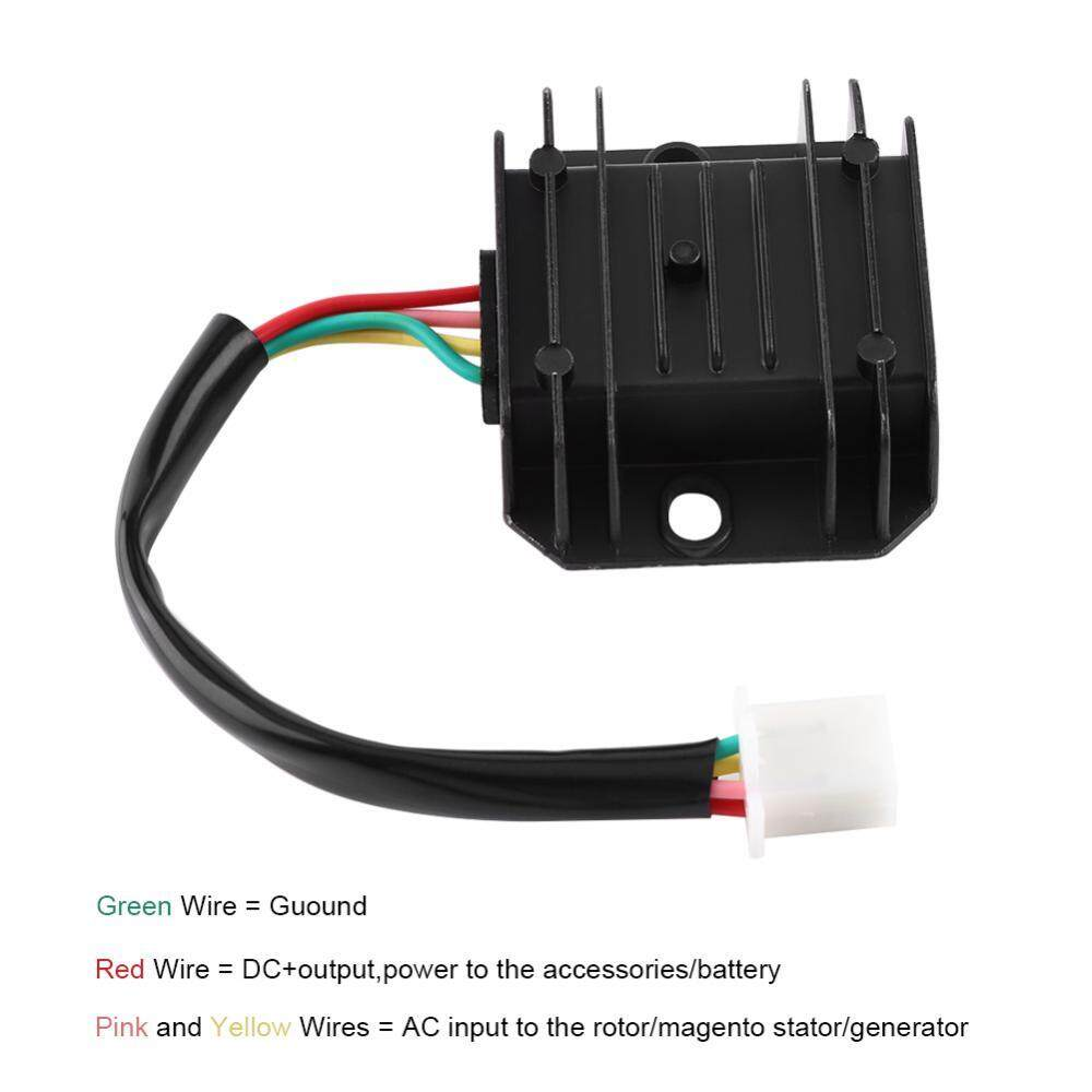 How To Buy 12v Atv Scooter Moped Voltage Regulator Rectifier For Sunl Wiring Harness 4 Wire Justgogo Wires Pins 12 150 250cc Motorcycle
