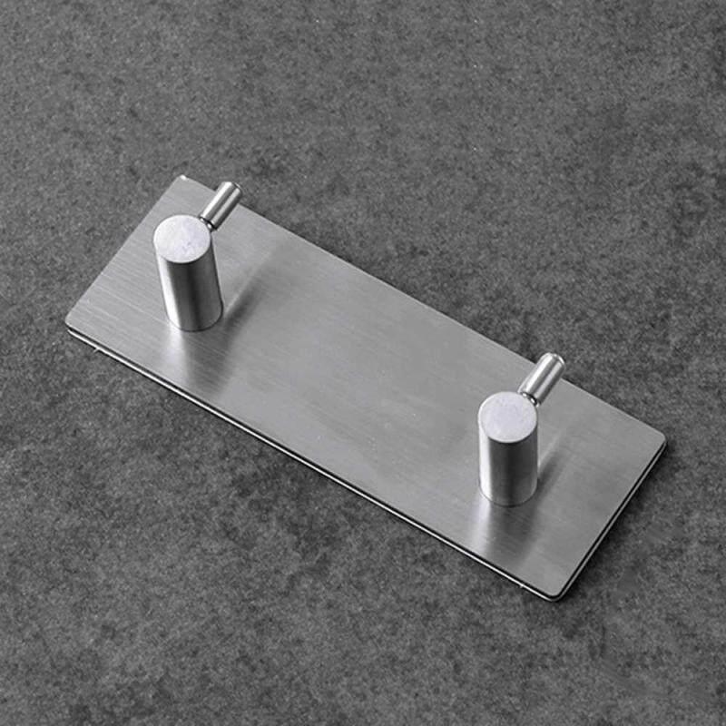 LISSNG 1PC Nice Looking Hooks Adhesive Stainless Steel Hooks Wall Door Clothe Coat Hat Hanger Kitchen Bathroom Rustproof Hook for use in bedroom/bathroom/closets/doors/Wall