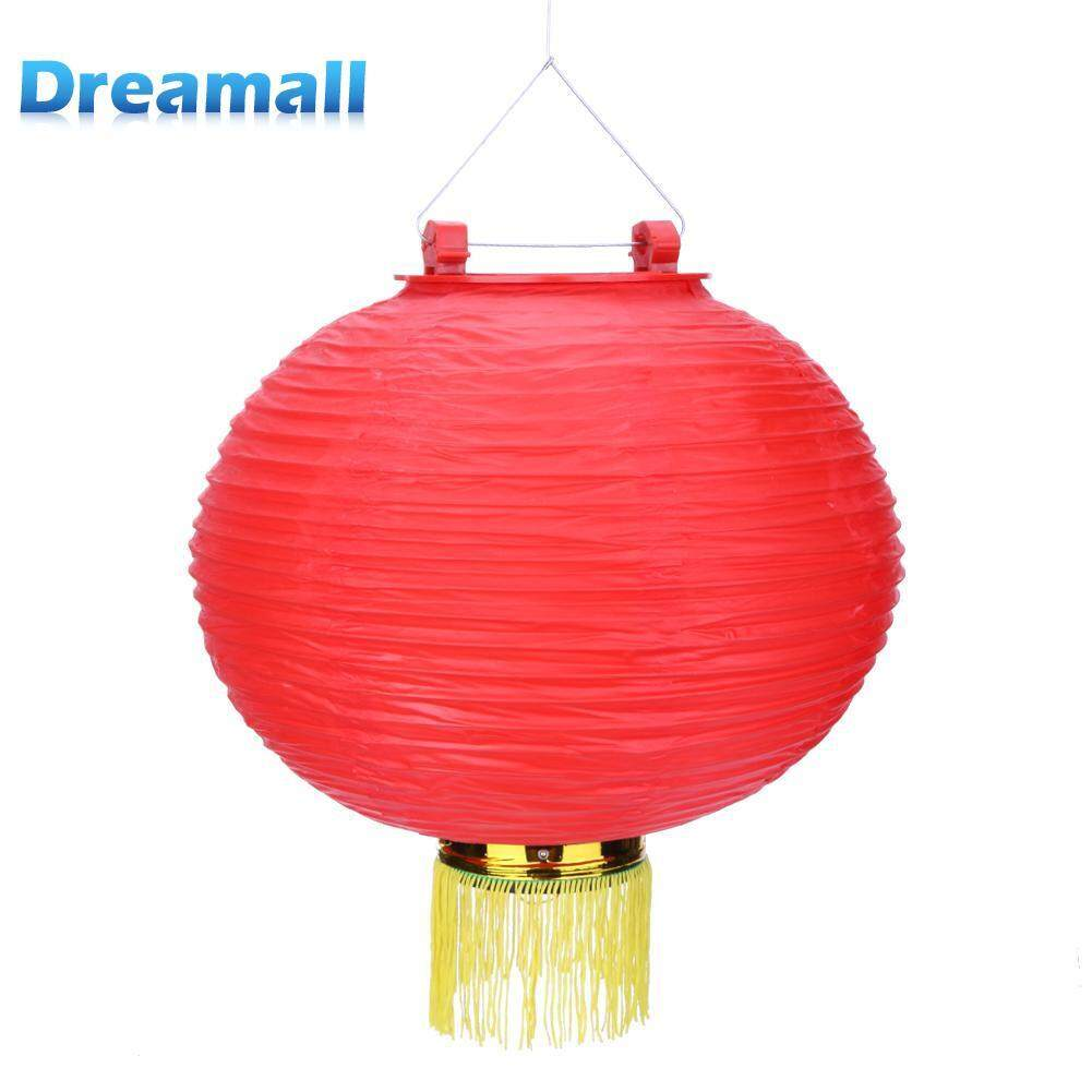 Waterproof LED Solar Chinese Lantern Festival Party Garden Hanging Light(A) Singapore