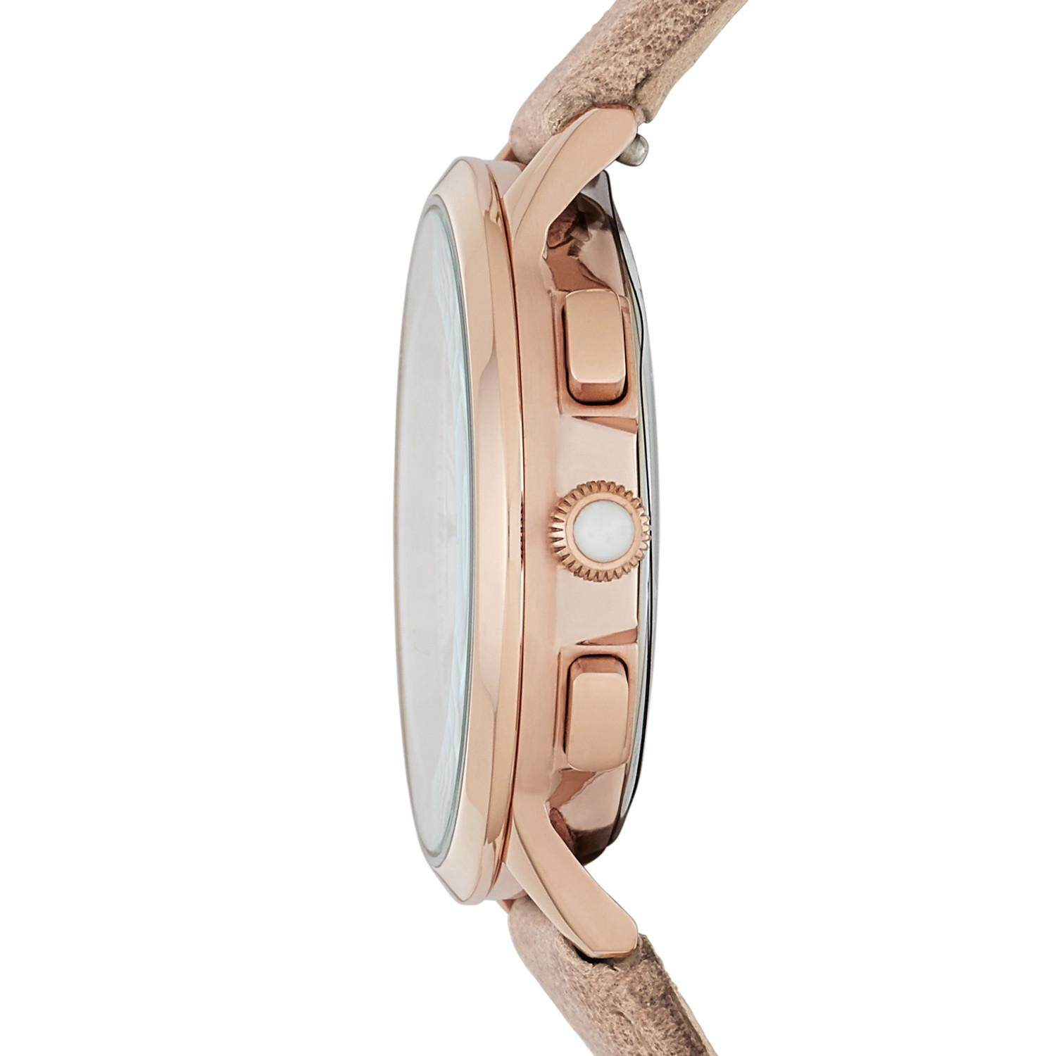 Features Fossil Abilene Chronograph Light Brown Leather Watch Ch3016 Fs5068 Detail Gambar Terbaru