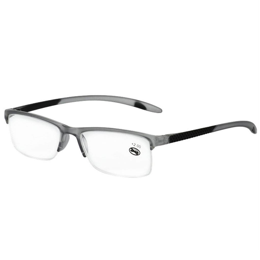 +1.75 Unisex Reading Glasses Presbyopic Eyeglasses Full Frame Portabl(Grey) - intl