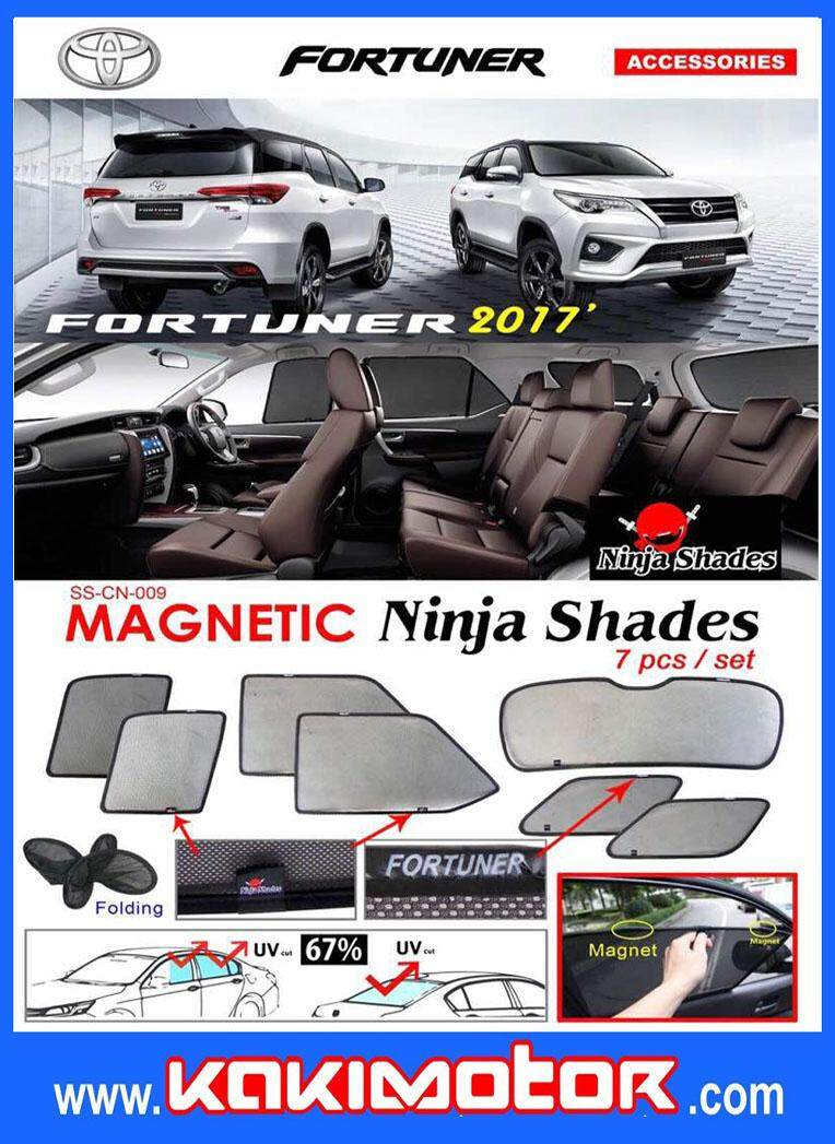 NINJA MAGNETIC SUNSHADE FOR FORTUNER 2017(7PCS)