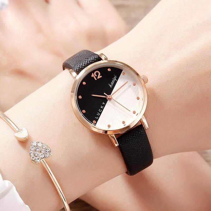 02e356869 2018 new chic watch female middle school studentKorean version of the  simple trend retro small fresh