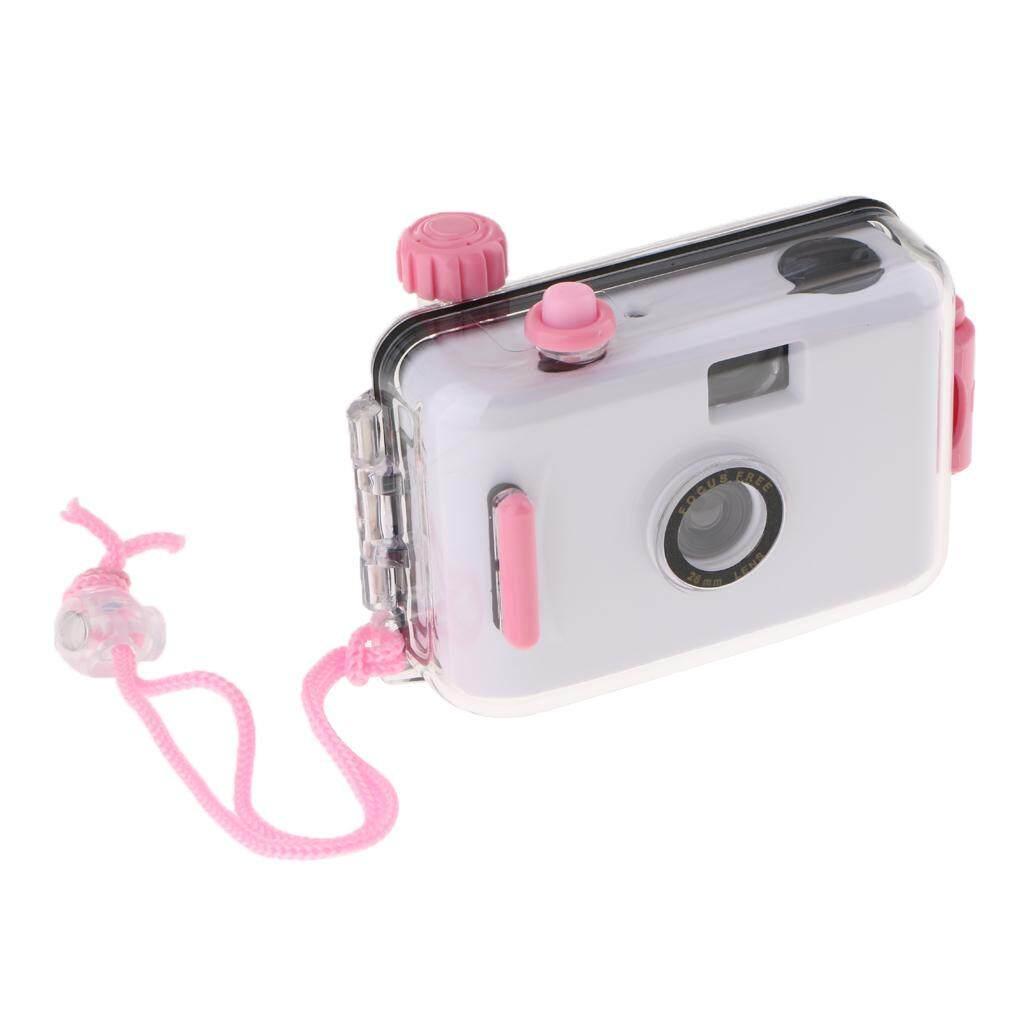 Miracle Shining Underwater Waterproof Lomo Camera Mini Cute 35mm Film w/ Housing Case White