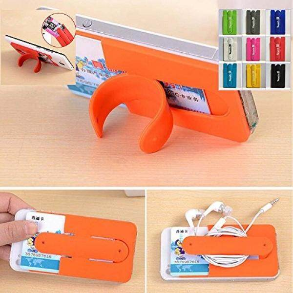 Cell Phones Stands KaLaiXing 10pcs Mix Color Universal Silicone Stick on Credit Card Holder with Phone Stand - Fits Apple Iphone 6, 6 Plus, 5s, 5, 4,sony Xperia Z3, Samsung Galaxy S5, S4, S3, Note 3, 2, 1, Ipod Touch - intl