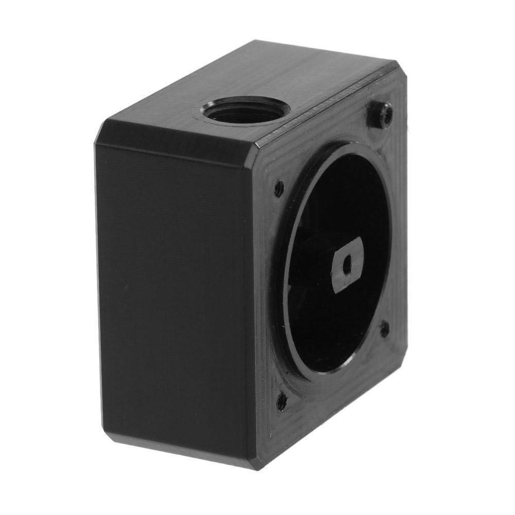 ❥Gracekarin Online New Computer Water Cooling Black POM Pump Top Cover Inlet Outlet G1/4 Thread Malaysia