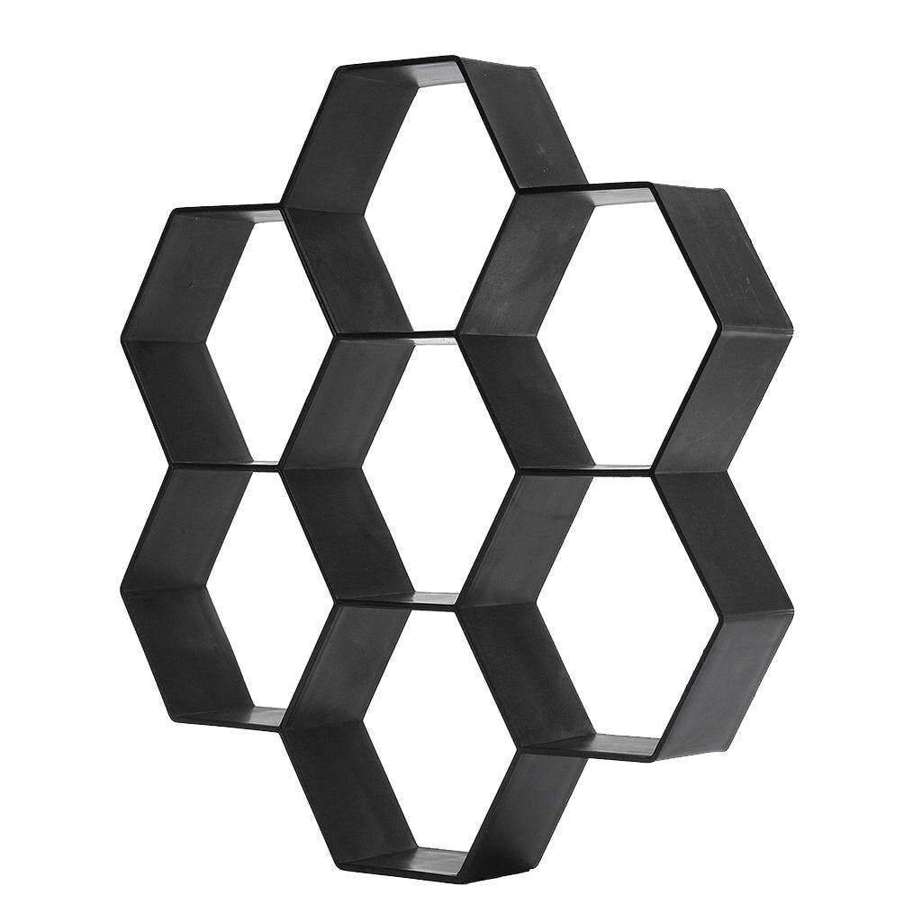 MagiDeal 7-Hexagon Walk Maker Concrete Stepping Stone Mold Garden Pathway Mold
