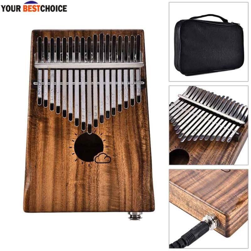YBC Kalimba 17 Keys Mbira Thumb Piano Likembe with EVA Protection Box Tuning Hammer Malaysia