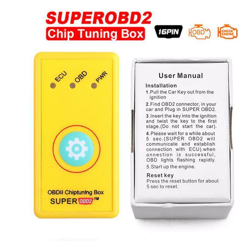 More Power And Torque Nitroobd2 Upgrade Reset Function Superobd2 Ecu Chip Tuning Box Yellow For Benzine Better Than Nitro Obd2 - Intl By Gearray.
