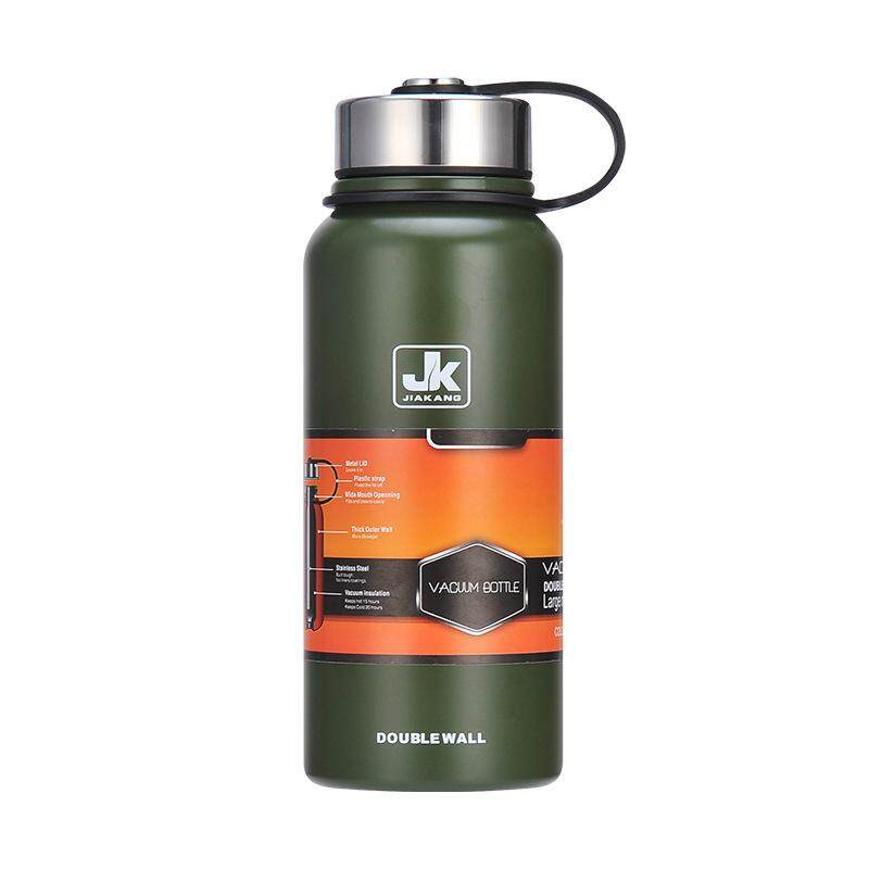 New Space Thermal Insulation Pot 304 Stainless Steel Insulated Cup Outdoor Sports Cup Large Capacity Water Cupngreen 1100ml By Moonbeam.