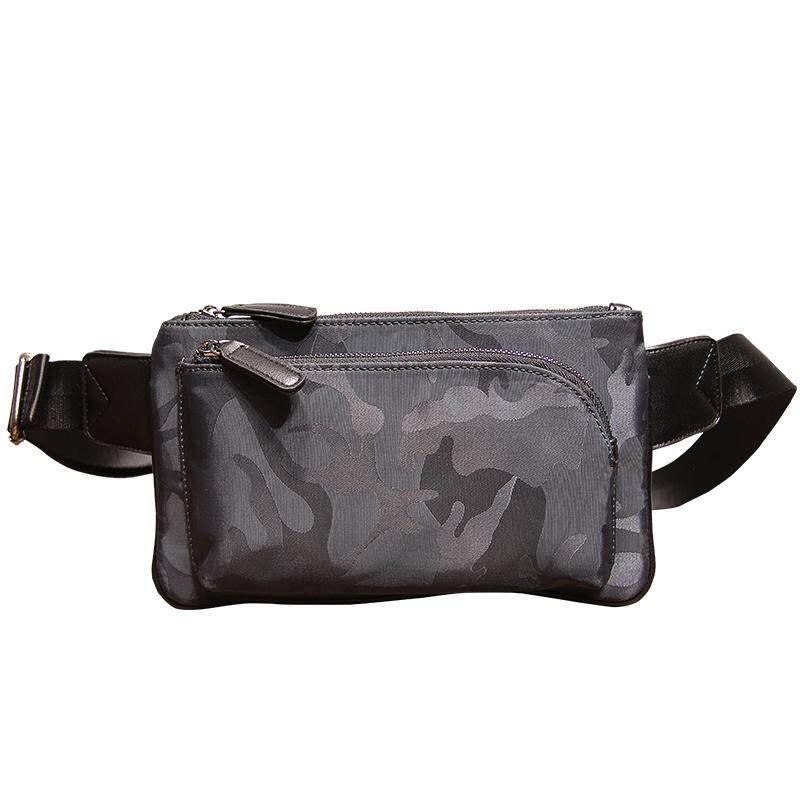 Mens Camouflage Oxford Cloth Chest Bag Mobile Phone Bag