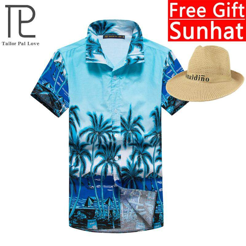 ce921248311 Summer new men s cotton printed shirt loose large size Hawaii beach shirt  casual fashion shirt M
