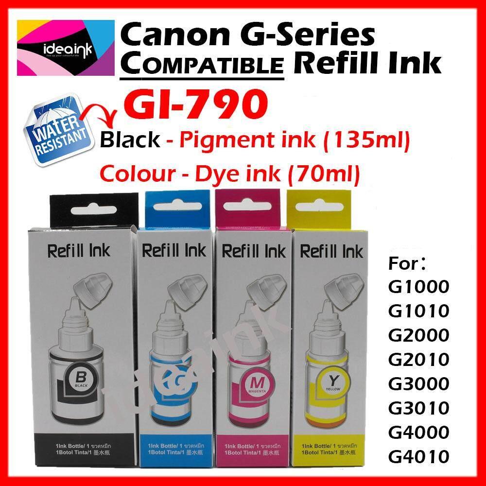 Kios Canon Gi 790 Bk Ink Bottle 135ml Black Dan Info Price Terbaru Tinta G Series Yellow Full Set Compatible Refill Gi790