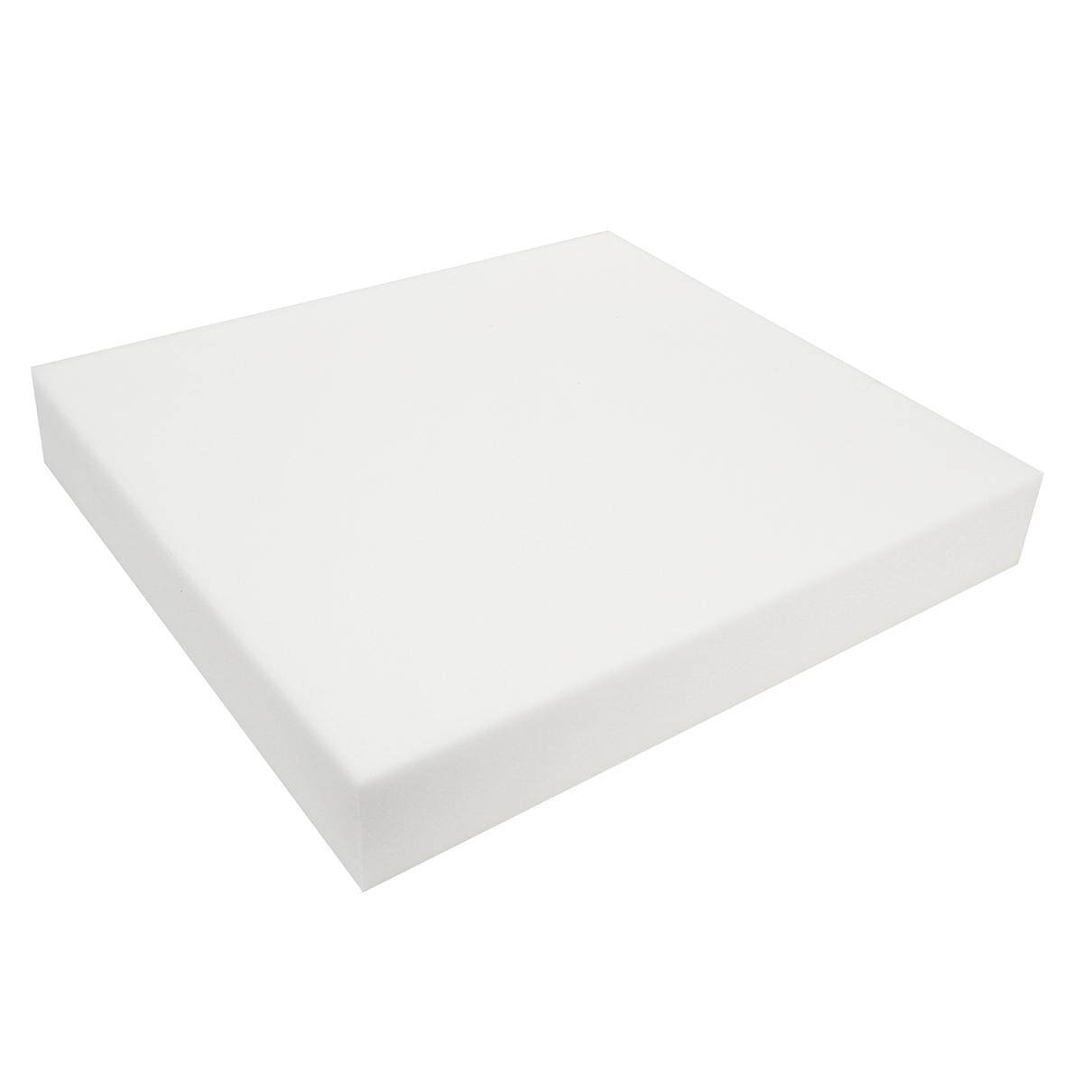 24 White Square High Density Seat Foam Sheet Upholstery Cushion Replacements # 5cm