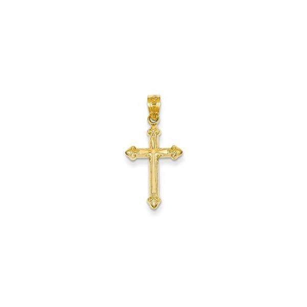 Roy Rose Jewelry 14K Yellow Gold Passion Cross Pendant 25mm length - intl