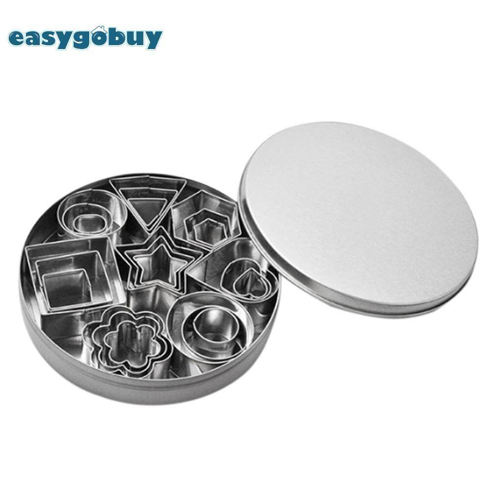 Mini Cookie Cutter Set Stainless Steel Baking Pastry Cutters Slicers 24pcs Multiple Shapes For Kitchen Baking By Easygoingbuy.