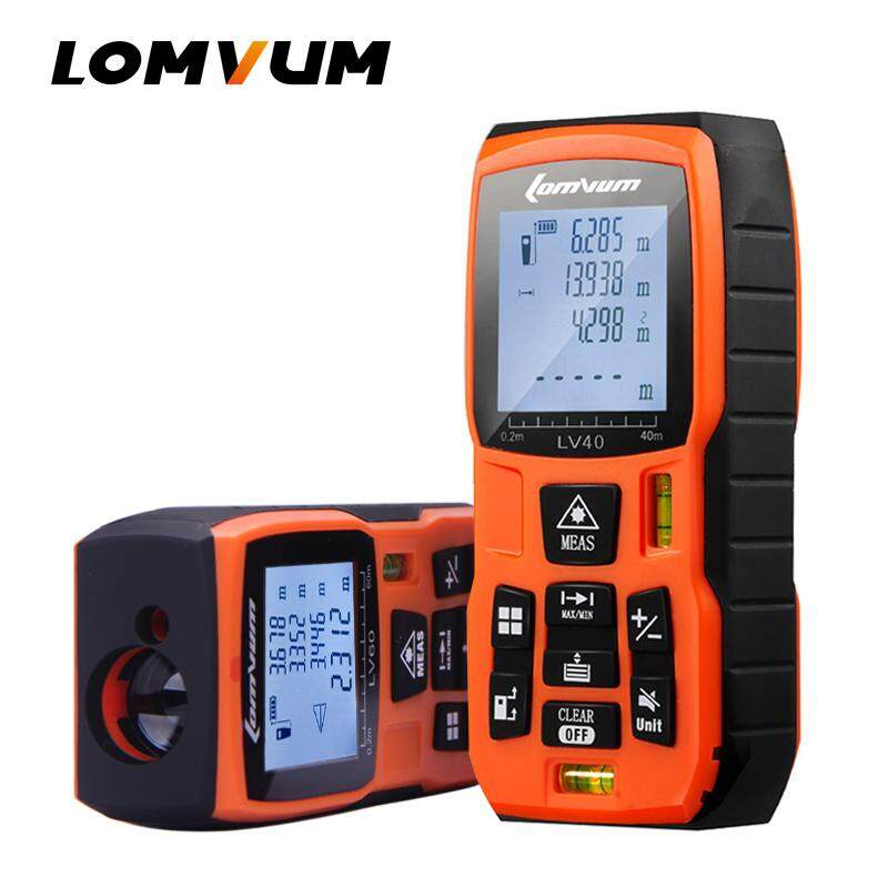 Lomvum 40m 60m 80m 100m 120m Laser Rangefinder Digital Laser Distance Meter Laser Range Finder Tape Distance Measurer By Lomvum Power Tools.