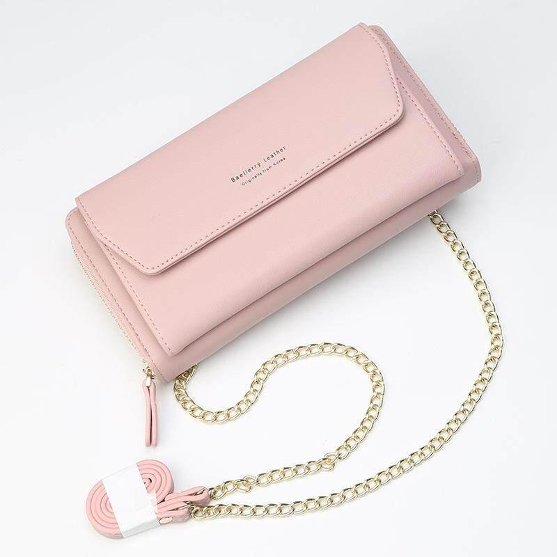 Baellerry Chains Shoulder Bags Women Leather Handbags Ladies Crossbody Bags Female Clutch Purse Multifunction Girls Wallet