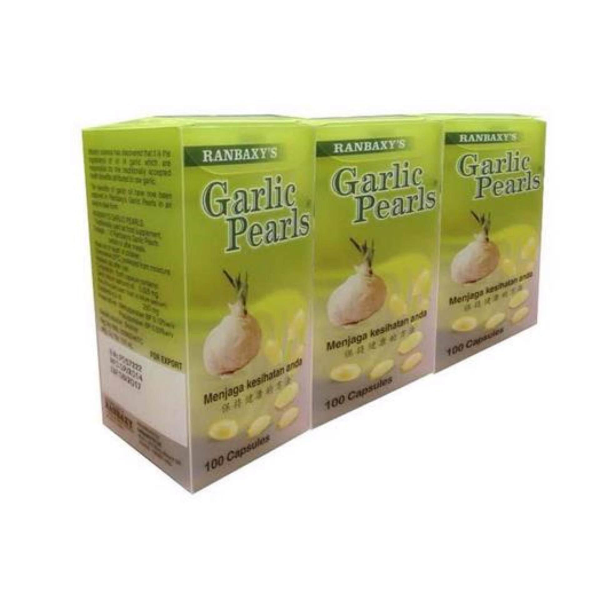 Ranbaxy Garlic Pearls 100 Capsules X 3 tins