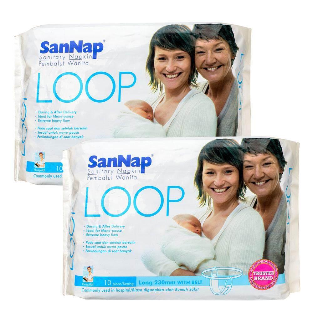 Sannap Loop Maternity Sanitary Napkin with Belt 10s X 2 set