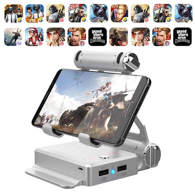 Dongxi 【Great Jiari, makan Ayam Tonight】gamesir X1 Battledock Multifungsi Gamepad Kualitas Tinggi Kreatif & Ringan Ponsel Gamepad Memicu Tombol Tembak Tujuan Kunci L1R1 Shooter Controller pubg V3.0 FUT1 untuk Ponsel Pintar iPad (Emas) -Intl