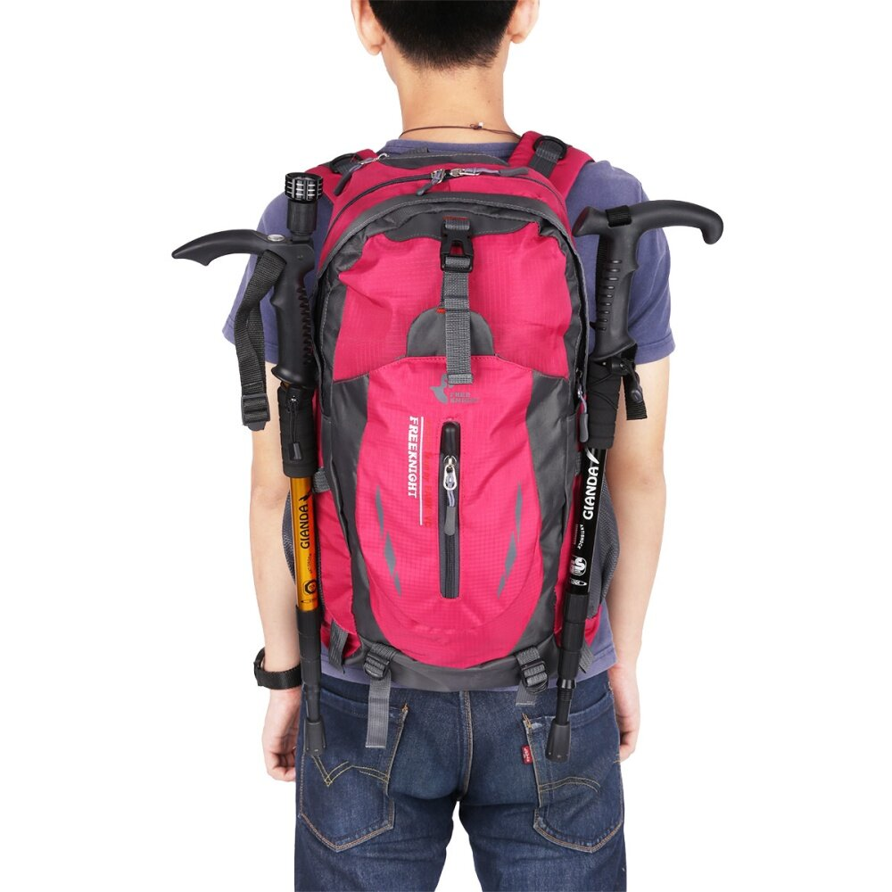 489baf357777 Product details of Free knight 005 Outdoor Sports Backpack Hiking Camping  Waterproof Nylon Bag 40L(Rose)