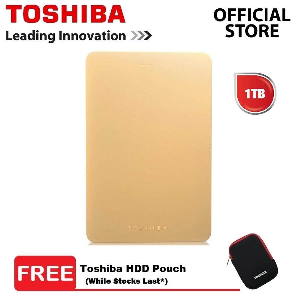 Toshiba Canvio Alumy Portable HDD 1TB External Hard Drive