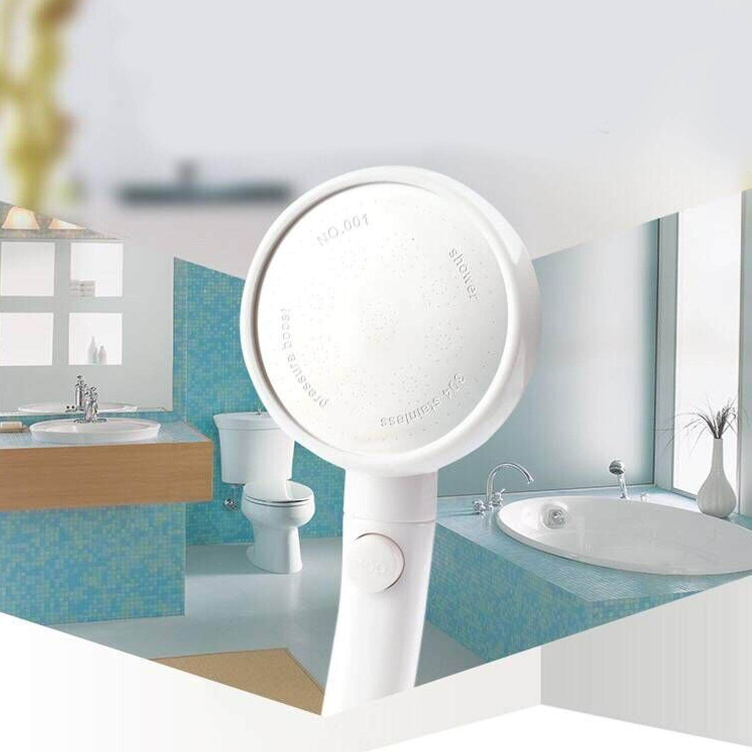 Water-Saving Spa Detachable 360-Degree Rotating High Pressure Handheld Shower Head Universal Showerhead Replacement Part With Stop Pause Button - Intl By Stoneky.
