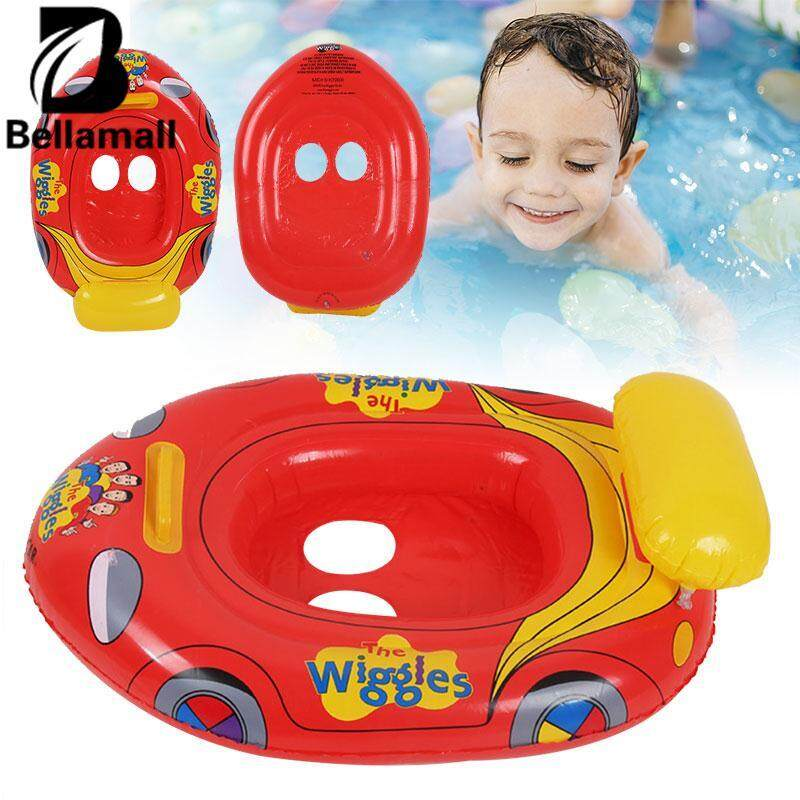 Hình ảnh Bellamall Car Shape Swimming Ring Inflatable Swim Float Floating Boat Portable