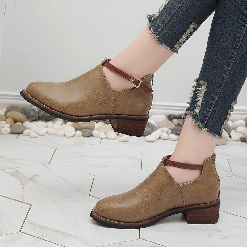 Sepatu wanita 2018 musim gugur Gaya Korea model baru netral kecil Sepatu  Kulit perempuan Gaya Kampus 8370adc949