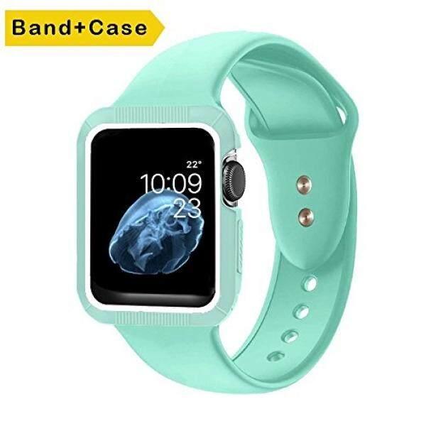 Ic6Space Pita Jam Tangan Apple, premium Lembut Silikon Olahraga Strap Pengganti untuk Apple Watch Seri Eries Eries 1,38 Mm atau 42 Mm-Intl