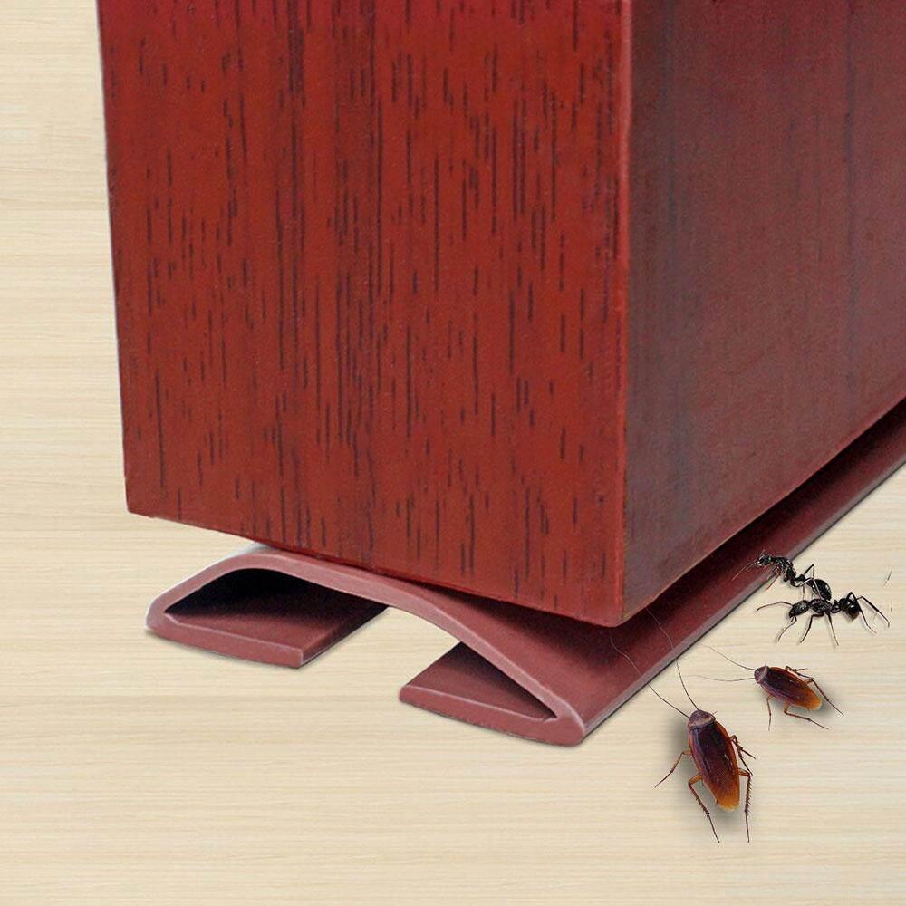 FlyUpward Adeshive Sealing Strip, 3.28Ft/1M PVC Exterior Front Door Plinth Sealing Strip External Door Weather Seal Strip Draft Stopper for Windpfoofing Soundproofing