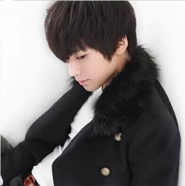 Detail Gambar Pria Wig Korea Bintang Rambut Pendek Fashion Cosplay Rambut  Palsu Halus Set Terbaru c3d7e1a670