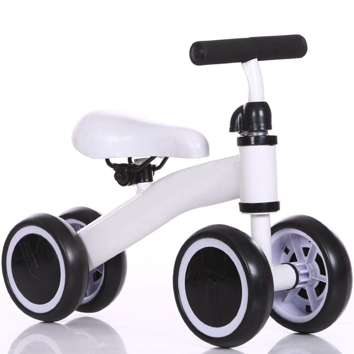 2018 Kids Balance Bike Toddler Push Scooter Baby Walker Tricycle 3 Wheel White By Glimmer.