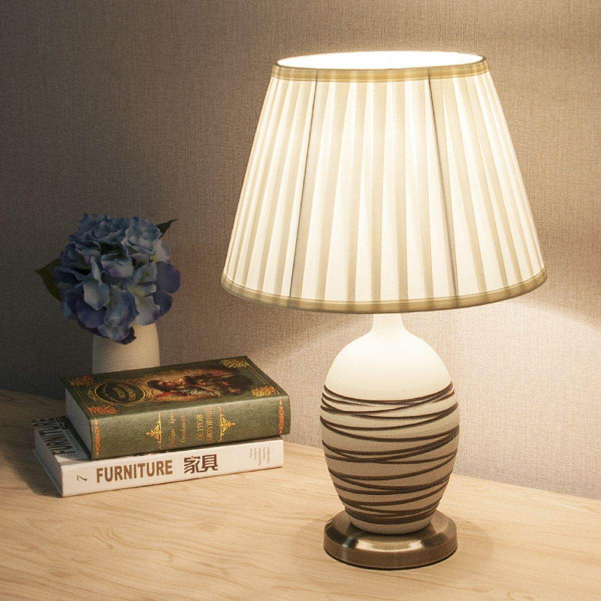 6 To 20 Fabric Box Pleat Lamp Shade Table Light Lampshade Mink Cream Ivory 400mm By Glimmer.