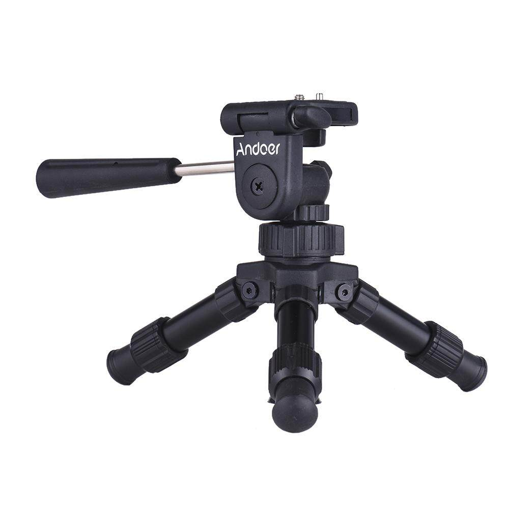 Andoer Portable Lightweight Tabletop Mini Tripod with Pan Tilt Head Max. Load 4.5kg for Canon Nikon Sony DSLR - intl