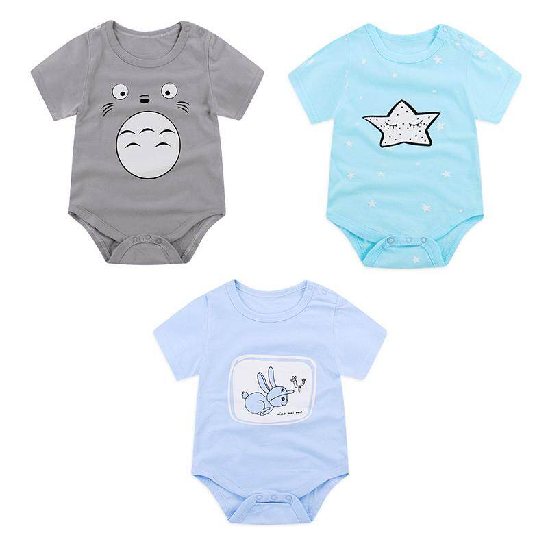 (3pcs in a pack )Baby Cotton Romper Girls Boys Cute One-piece Sunsuit