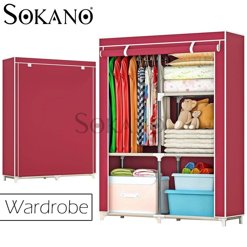 (RAYA 2019) SOKANO 1401 Large Wardrobe with Spacious Storage And Strong Steel Structure