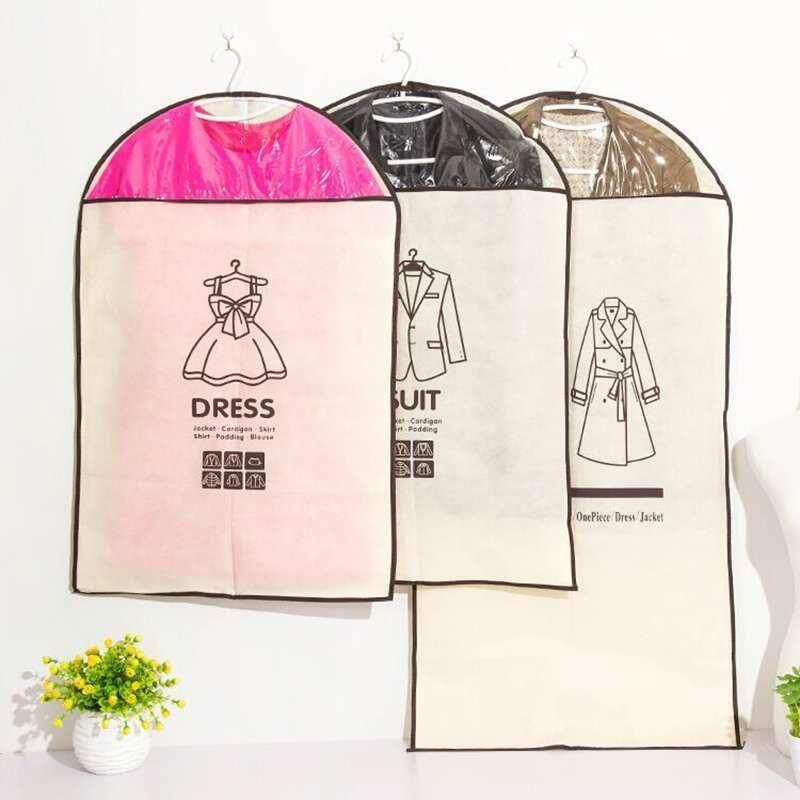 Burstore Bernapas Gaun Luar Pakaian Debu Sarung Gantungan Garment Mantel Pakaian Tas Damp-Tahan-Internasional