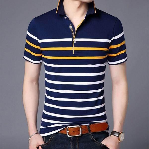 4354a65cc 2018 Men Casual Polo T-Shirt Short Sleeve Casual Sports Cotton T-shirt Mens