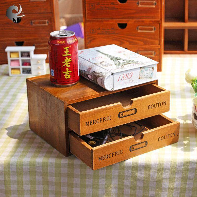 Desktop storage box, retro, wooden, drawer, jewelry, jewelry, solid wood, creative, decorative, living room, storage cabinet, high quality wooden material (24.5*17.5*4.5cm)