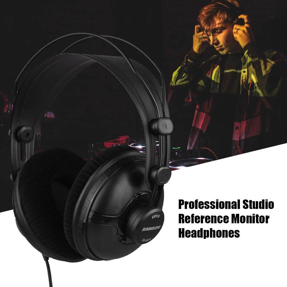 SAMSON SR950 Professional Studio Reference Monitor Headphones Dynamic Headset Closed Ear Design for Recording Monitoring Music Appreciation Game Playing DJ