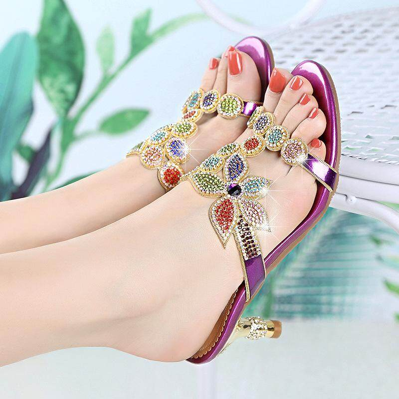 646f6387a Women Luxurious Design Fashion Diamond High Heeled Sandals Lady Birthday and  Holiday Gift High Heeled Shoes