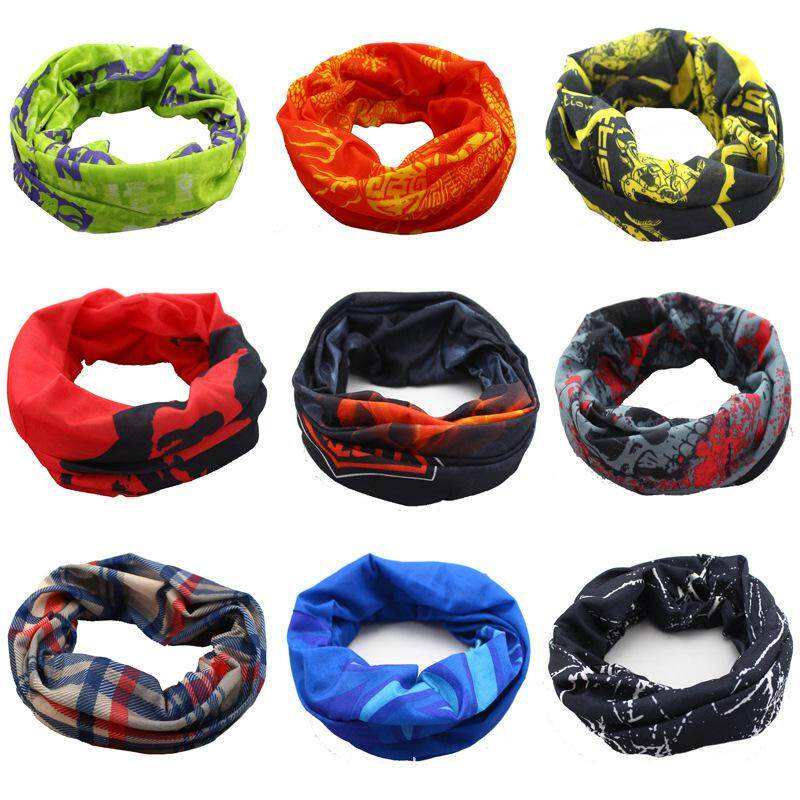 Outdoor Sports Multifunctional Magic Scarf Fashion Headband Kerchief Elastic Bandanas For Cycling Hiking - Color Random By Pellet12.