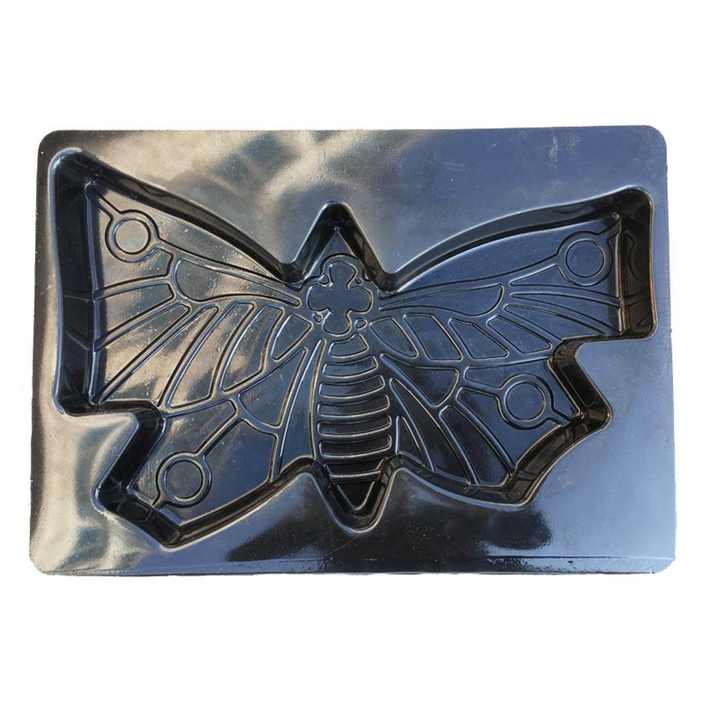 MagiDeal Large Butterfly Shaped Stepping Stone Plaster Concrete Mold For Garden
