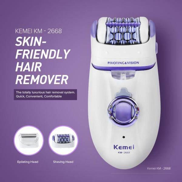 Buy Kemei 2 in 1 Women Hair Remover Electric Hair Trimmer For Armpit Bikini Leg Lady Removal Epilator Female Body Care Shaver Singapore