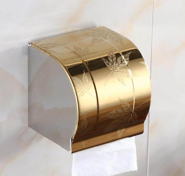 ELEGANT STYLEZ Stainless Steel Wall Mount Toilet Tissue Bathroom Paper Roll Holder Box K103