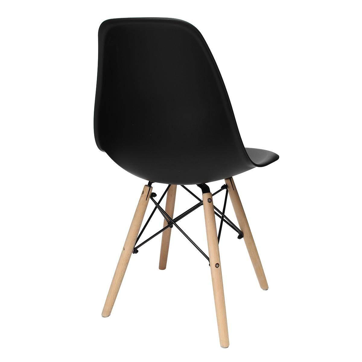 EIFFEL เก้าอี้รับประทานอาหาร  Retro Vintage สไตล์ Lounge ห้องรับประทานอาหาร - พลาสติก ABS ไม้สีดำ